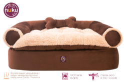 Cama acolchonada para perros tipo sofa